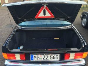 Gut nutzbare 550 Liter Kofferraum-Volumen im W126